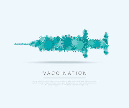 covid-19 vaccine symbol. Health care and protection  vaccination concept. Vector illustration