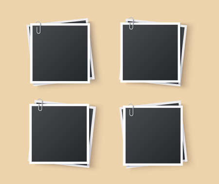 The photo with an office paper clip. vector eps10 Vectores