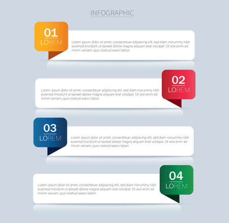 colorful info graphics for business presentations. diagram with 4 steps