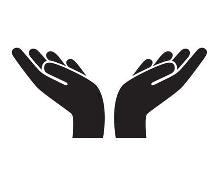 hands gesture icon. support, peace and care vector illustration
