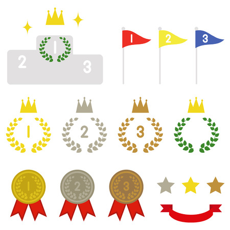 Ranking Collection. gold, silver & bronze Vector