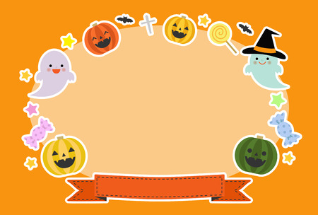 Greeting card of Halloween Illustration