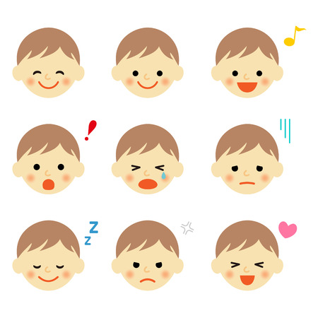 Facial expressions of baby