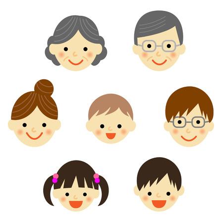 家族のアイコンのセット