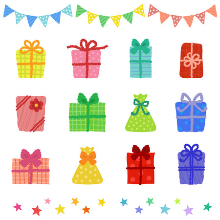 Collection of colorful present boxes Vector