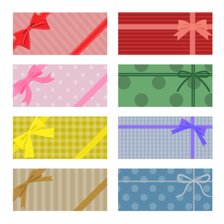 green bow: Collection of colorful present wrapping Illustration