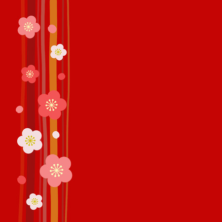 Japanese apricot background Ilustracja