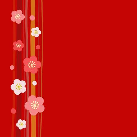 Japanese apricot background Illustration