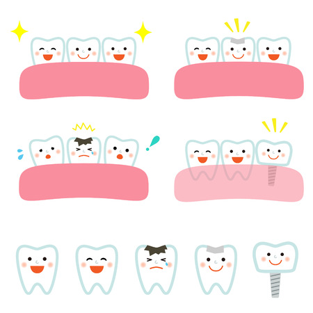 Dental treatment Иллюстрация