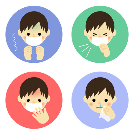 snivel: Cold symptoms of boy
