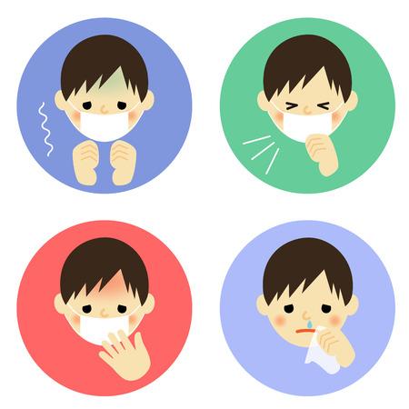 Cold symptoms of boy