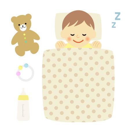 buonanotte: bambino addormentato
