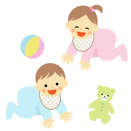 bebe gateando: bebé gateando