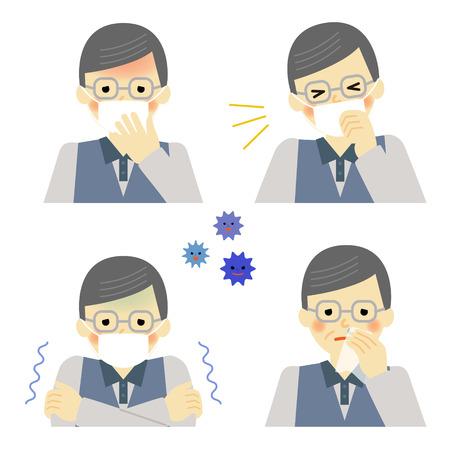 s�ntomas: Los s�ntomas del resfriado de hombre mayor
