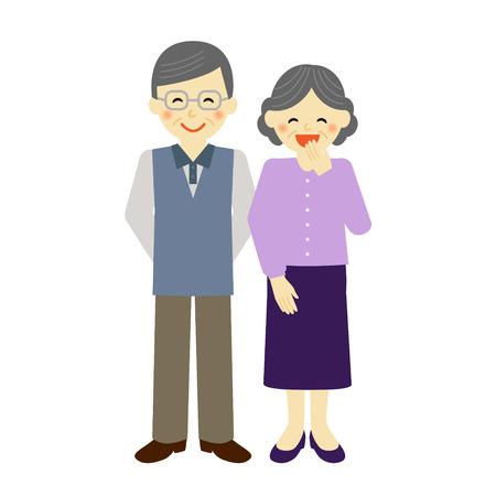 granny and grandad: senior couple