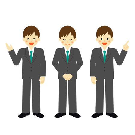 recruit suit: Businessman Illustration