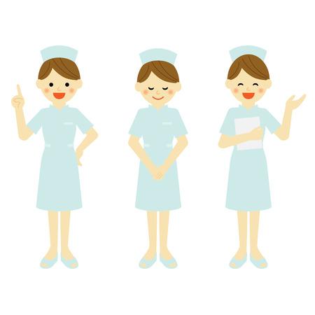 smile cartoon: nurse