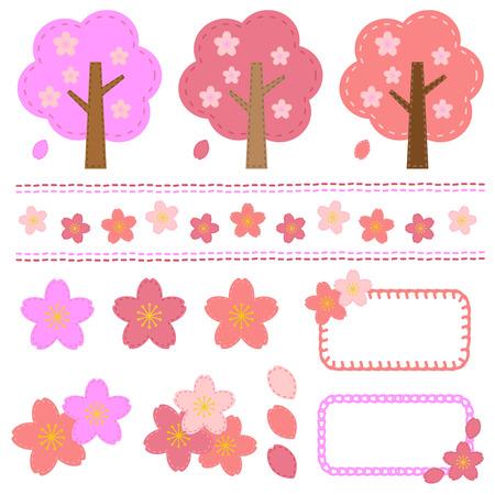 handcraft: Set of cherry tree handcraft