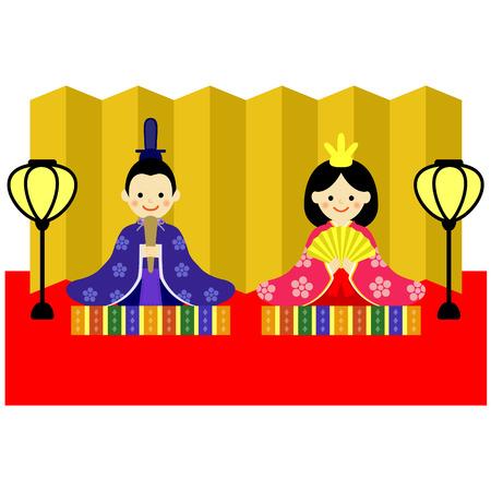 日本の人形祭  イラスト・ベクター素材