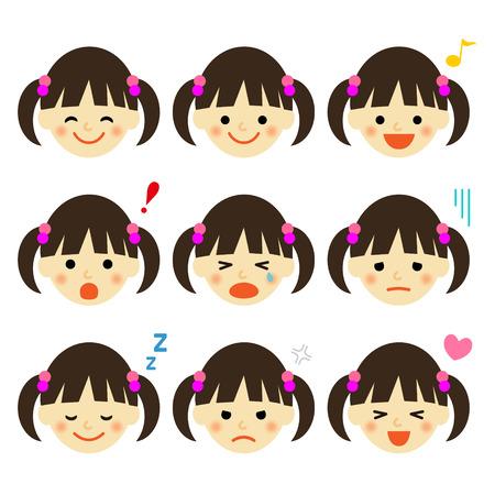 女の子の表情
