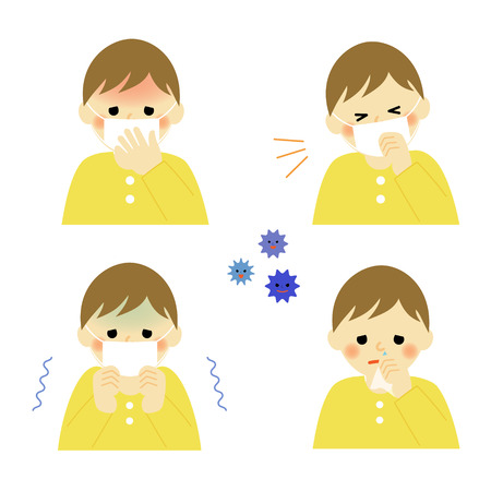 Cold symptoms of infant Vector