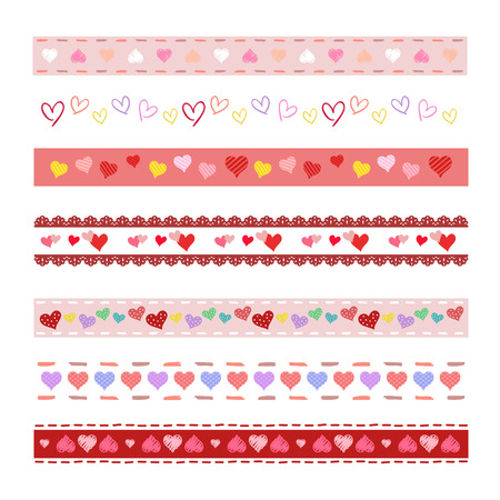 Heart decorative borders