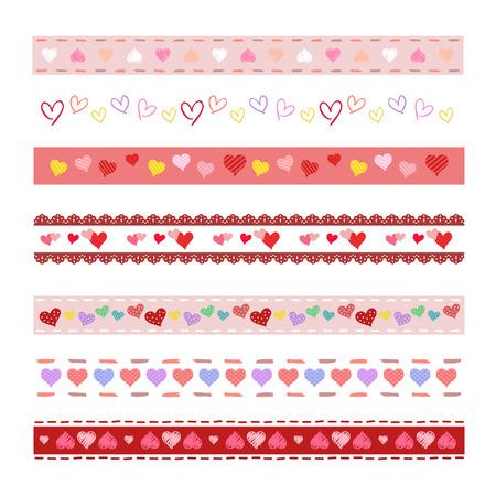 cute border: Heart decorative borders