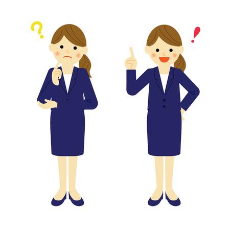 思考ビジネス女性