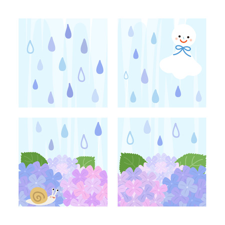 rainy season Vector
