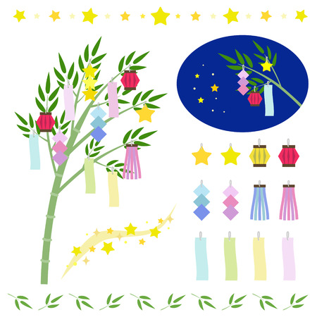 Set of star festival ornamentsTANABATA