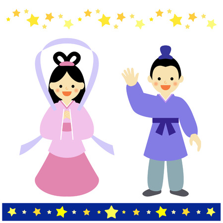 legends folklore: Couple of star festivalTANABATA