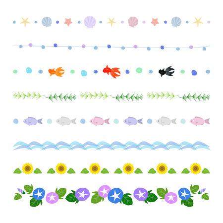 summer decorative borders Illustration