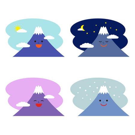 winter range: Smiling high mountains, Mount Fuji