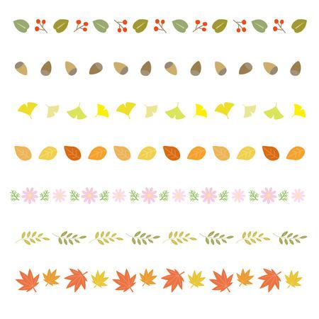 秋の装飾的なボーダー  イラスト・ベクター素材