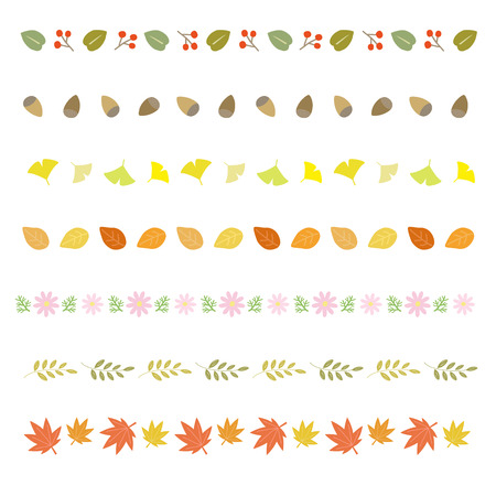 autumn decorative borders