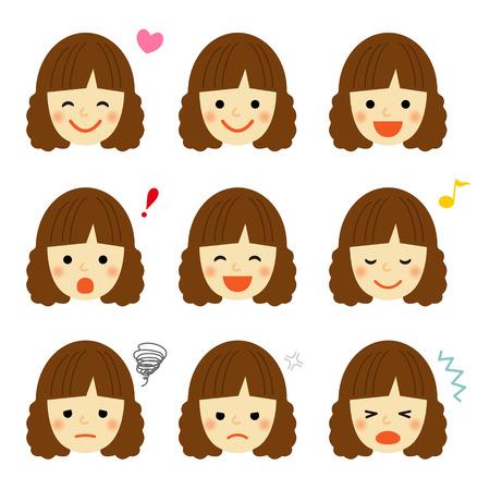 若い女の子の表情 写真素材 - 48536453