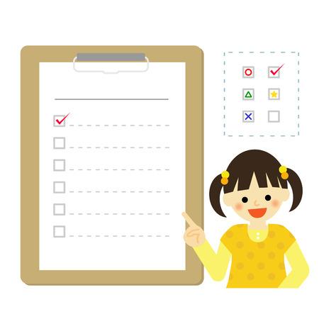 checklist: Girl with checklist