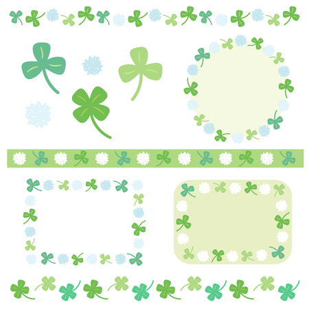 decoration set of clover