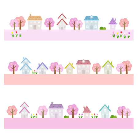 suburban: Spring suburban houses