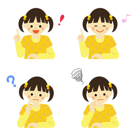 expresiones faciales: Las expresiones faciales de chica