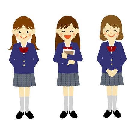 458 Junior High School Girl Stock Illustrations, Cliparts And ...