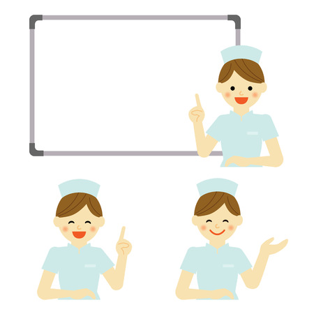 nurse uniform: Whiteboard with nurse
