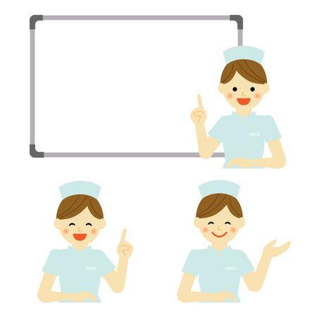 nurse cap: Whiteboard with nurse