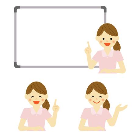 hygienist: Whiteboard with hygienist