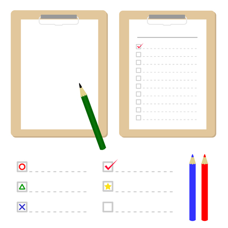 notepads: Clipboard with checklist