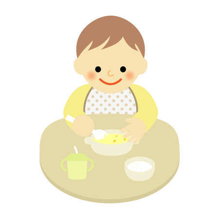 food to eat: baby trying to eat food