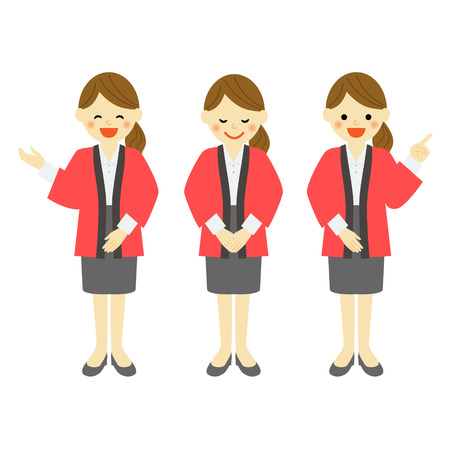 introduce: Female salesclerk wearing japanese special outer wear