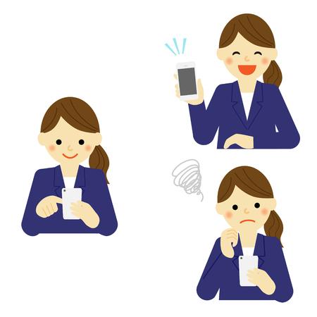 smart phone: Business woman using smart phone