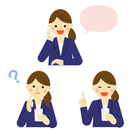 smart phone woman: Business woman talking on mobile smart phone