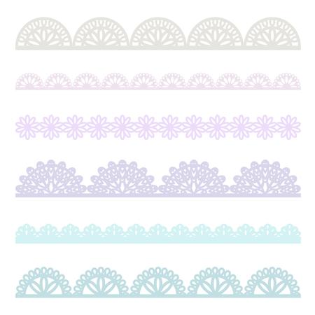 Set of lace borders  イラスト・ベクター素材